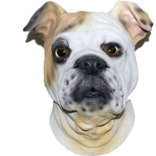 Full Face Adult Mask Halloween Masquerade Fancy Dress Party Cosplay Costume Sinodoor Flash-Happy Dog Animal -