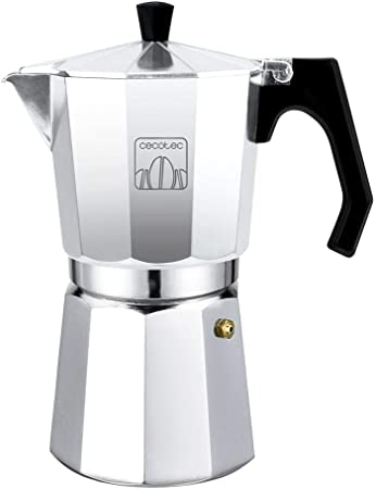 Cecotec Cafetera italiana Mimoka 1200 Shiny. Fabricada en aluminio fundido, Apta para todo tipo de cocinas, Para 12 tazas de café: Amazon.es: Hogar