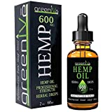 GreenIVe - Hemp Oil - Best Quality Hemp Oil - USA farmed and Bottled - Exclusively on Amazon (2 Ounce 600mg, Sweet Natural)
