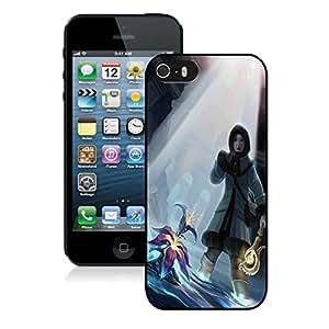Fashion Custom Designed Sacred Orchid iPhone 5 5s 5th Generation Black Phone Case CR-541