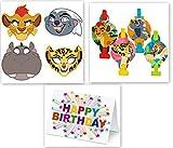 Lion Guard Party Blowouts Masks Favors Treats Lion King Birthday Party Supplies (8-Pieces) plus Card
