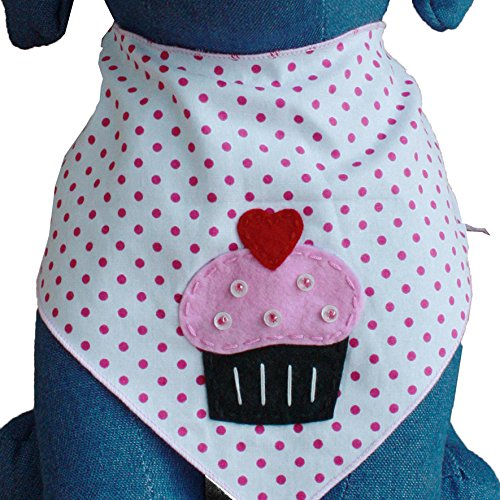 Picture of Tail Trends Dog Bandanas Cupcake Surprise Design fits Medium to Large Sized Dogs - 100% Cotton (L)