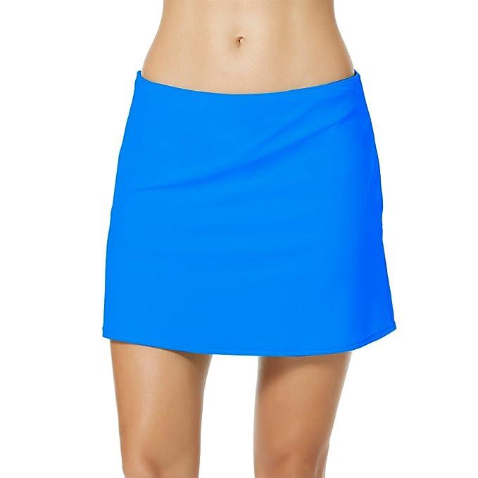 97850bc51334 YoungSoul Shorts de baño para Mujer, Falda de Bikini de Playa con ...