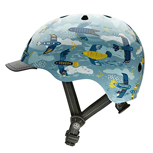 Nutcase - Patterned Street Bike Helmet for Adults, Feathered Friends, Small