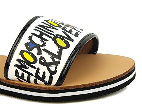Bianco Moschino Donna Strap amp; Sandalo Love 1 Peace Rq0wxUXd