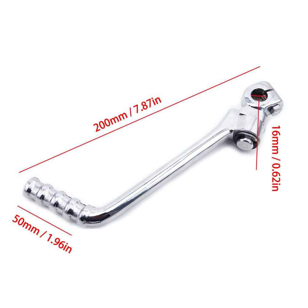 Wilove 16mm Kick Starter Lever Start Pedal For Kawasaki KE KL//KLX//KX//KDX//KZ//125//175//200