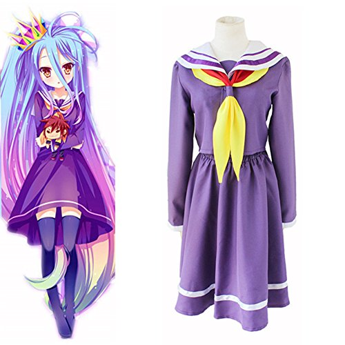 Mtxc Women's No Game No Life Cosplay costume Shiro Sailor suit