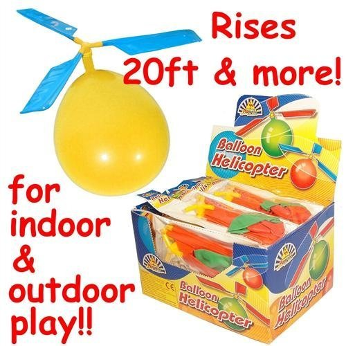 Balloon Helicopter Toys, pack of 6. Very simple, but great fun and ideal for an extra party bag/stocking filler.