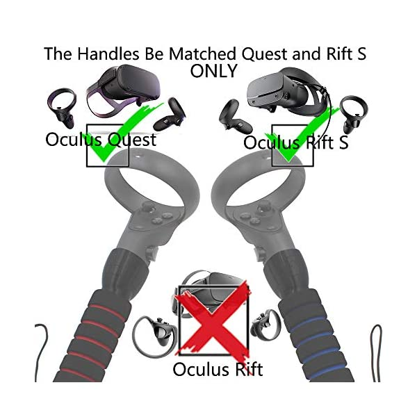 AMVR Dual Handles Gamepad Just for Oculus Quest 1 or Rift S Controllers Playing Beat Saber Game (Not Fit Quest 2) 6