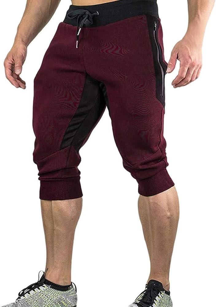 Pantalones Cortos Hombre Mens Casual Summer Joggers Solid Pocket ...