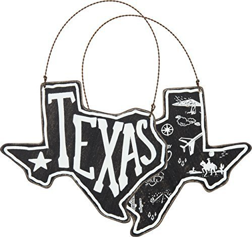 Hanging Sign 'Texas' by Primitives by Kathy