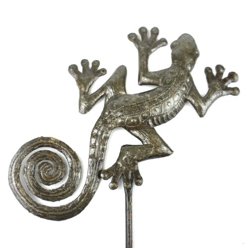 Global Crafts 25-inch Metal Garden Stake With Gecko