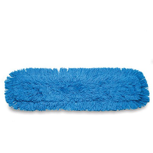 Rubbermaid(R) Twisted Loop Synthetic Dust Mop Heads, 5in. x 24in., Blue, Pack Of 12