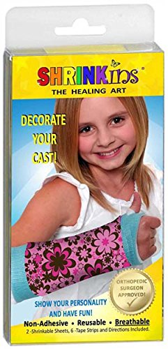 (Shrinkins The Healing Art WASHABLE REMOVABLE Cast Decorating Cover Kit~ Fun, Fashionable Creative Shrink Wrap Decorations for Arm & Leg Casts ~ Uses No Adhesive - ADULT & CHILD)