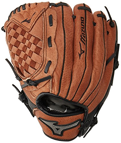 Glove Right Hand Thrower (Mizuno Prospect Baseball Glove, Peanut/Black, Youth/Kids, 10.5