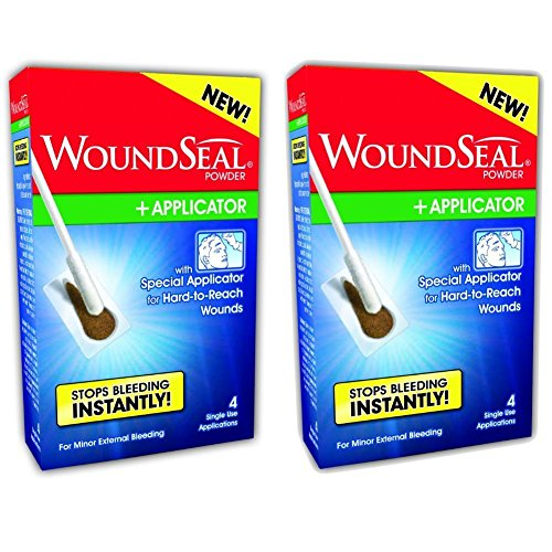 WoundSeal Powder and Applicators Kit (2 Kits) (Best Way To Stop Nose Bleeds)