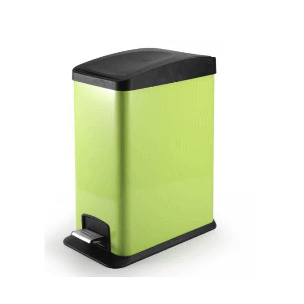ごみ箱 ゴミ箱大トランペットバスルームキッチンリビングルームトイレゴミ箱 (色 : 緑, サイズ さいず : 12L) 12L 緑 B07QLRS9HD