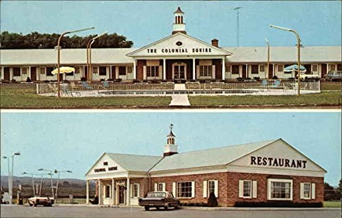 The Colonial Squire Motel New York Original Vintage Postcard
