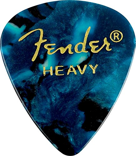 Fender 351 Shape Premium Picks (12 Pack) for electric guitar, acoustic guitar, mandolin, and bass Fender Ocean Guitar