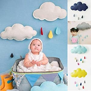 KANG--Cloud Raindrop Removable Kids Baby Room Nursery Wall Decal Stickers Art Decor FW