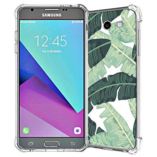 Mission Pattern Leaf (Galaxy J3 Emerge Case, Galaxy J3 Eclipse Case, J3 Mission Case, J3 Prime Case, Galaxy Express Prime 2 Case, Galaxy J3 2017 Case, SuperbBeast Rubber Case (Tropical Palm Leaves Pattern))