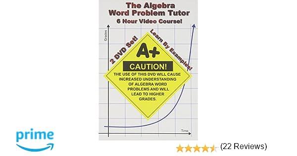 Amazon.com: The Algebra Word Problem Tutor - 2 DVD Set - 6 Hour ...