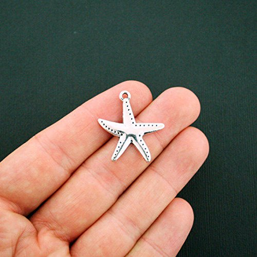 (Extensive Collection of Charm 4 Starfish Charms Antique Silver Tone - SC5868 Express Yourself)