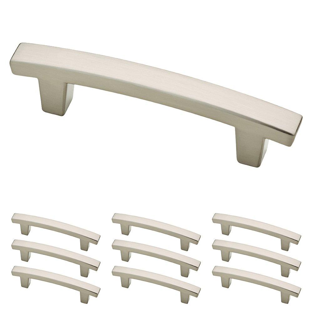 Franklin Brass P29519K-SN-B Satin Nickel 3-Inch Pierce Kitchen or Furniture Cabinet Hardware Drawer Handle Pull, 10 pack