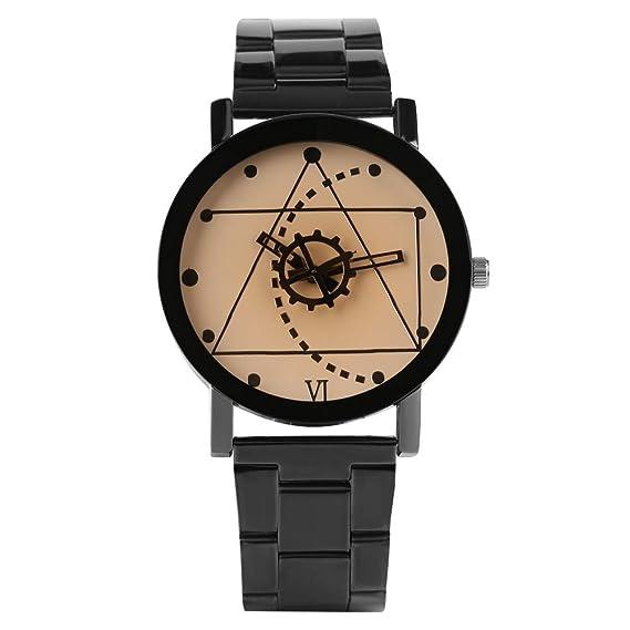 Kevin - Reloj de Pulsera para Hombre, diseño geométrico, Esfera de café, Reloj