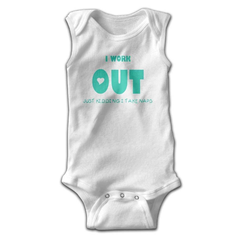 Workout Take Naps Newborn Infant Baby Summer Sleeveless Bodysuit Romper Jumpsuits Playsuit