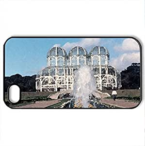 Cool Building - Case Cover for iPhone 4 and 4s (Watercolor style, Black)