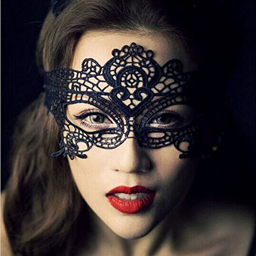 Green Your Decor Peacock Costume (Masquerade Mask - Black Lace Mask -Sexy Lace Prom Masquerade Ball Mask Costume Ball Mask Black- Sexy Mascarade Mask)