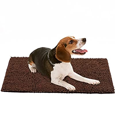 Dog Doormat Pet Mat - Microfiber Super Absorbent Rug for Cleaning Dirty Paws from mihachi