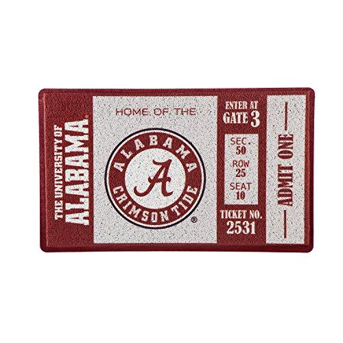Team Sports America University of Alabama Recyclable PVC Vinyl Indoor/Outdoor Weather-Resistant Team Logo Door Turf Mat