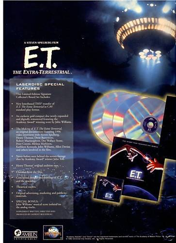 ET Limited Edition Collectors Boxed Set Numbered Laserdisc Edition ()