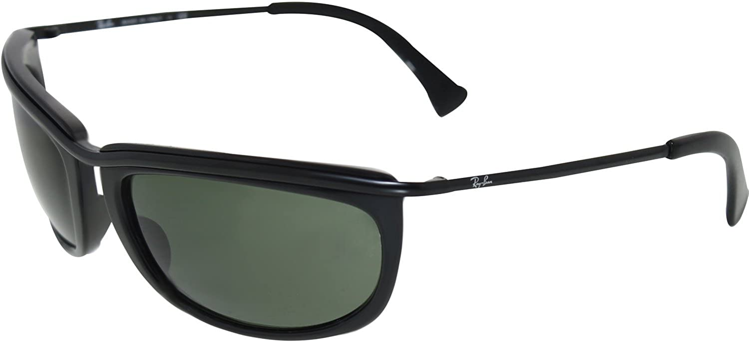 5cde3df95e Ray Ban Rb4109 Olympian Sunglasses-601 Glossy Black (G-15Xlt Lens)-62Mm   Amazon.co.uk  Clothing
