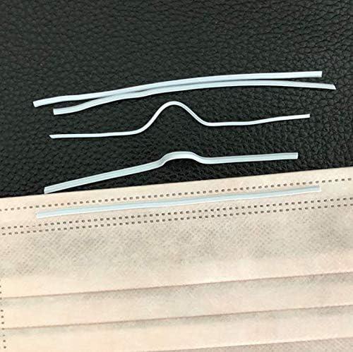 9cm//3.5 Airssory 100 Pcs Metal Flat Aluminum Bar Strip Trimming for Bridge Band Clip of Nose DIY Crafts Making Accessories