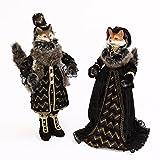 Halloween Masquerade Fox Doll Figurines Set of 2 New 18'' Tall Adorable animals