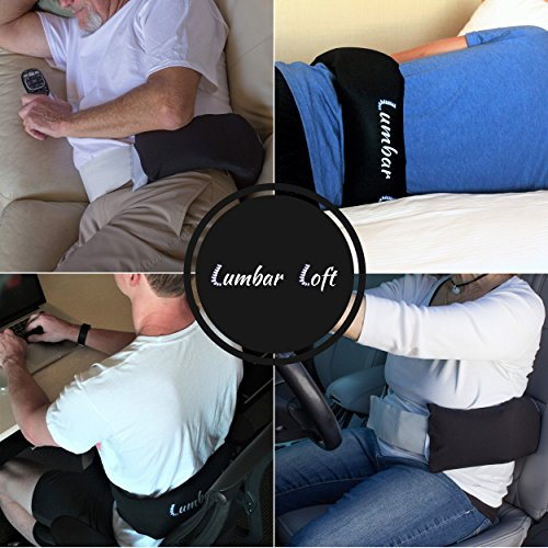 Lumbar Loft Inflatable Back Pillow with (Air Back Inflatable Roll)