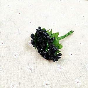 Lannmart 12PCS/lot Artificial Flower Stamen Wire stem/Marriage Leaves Stamen DIY Wreath Wedding Box Decoration 91