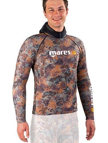 Mares Men's Pure Instinct Rash Guard Top, Camo Brown, Medium
