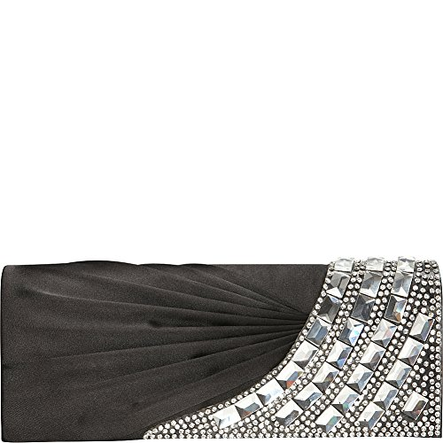 J Black Clutch Flap Women's Furmani 27569 with Stones Oqw0Or