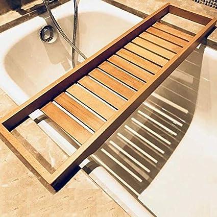Apóstuoso Estante de Almacenamiento de baño Estante de alojamiento de alojamiento de alojamiento para bañera, tamaño: 70x22cm