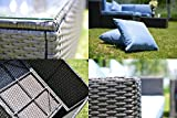 GOJOOASIS Outdoor Patio PE Wicker Rattan Sofa Sectional Furniture Conversation Set with Cushion and Pillow, Steel Frame, Black (5pcs Rattan Sofa Set)