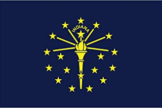 product image for Eder Flag - Endura-Nylon Indiana State Flag - Indoor & Outdoor - Proudly Made in The USA - Durable - Fade-Resistant - Quality Craftsmanship (12X18 Inch)