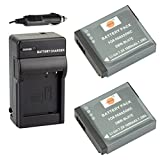 DSTE® 2x DMW-BLH7 Battery + DC120 Travel and Car Charger Adapter for Panasonic Lumix DMC-GM1 GM1K GM5 GF7 GF7K DMC-LX10 DMC-LX15 Camera as DMW-BLH7E