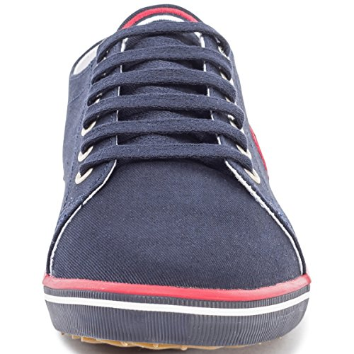 Fred Perry Kingston B6259W Womens Canvas Trainers Navy - 39 EU