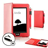 "ForeFront Cases� NEW KINDLE PAPERWHITE Leather Case Cover with Magnetic Auto Sleep Wake Function For New Amazon Kindle Paperwhite 3G 6"" / 3G + Wi-Fi - FREE MINI TOUCH STYLUS (RED)by ForeFront Cases�"