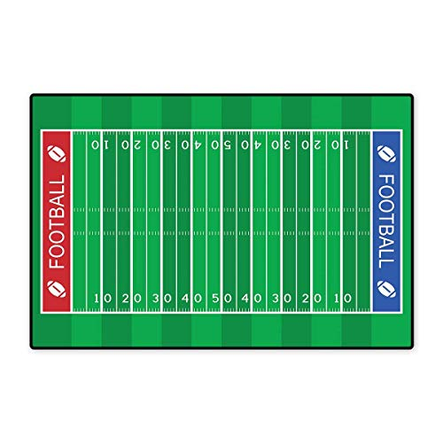 Football Bath Mats for Floors American Football Field Playground Stripes and Numbers League Scramble Score Customize Door mats for Home Mat 24