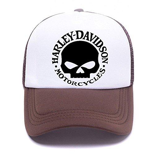Harley D Black Baseball Caps Gorras de béisbol Trucker Hat Mesh Cap For Men Women Boy Girl 001 Brown